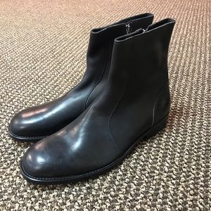 Marc Jacobs Black Leather Zip Up Chelsea Boot - 11
